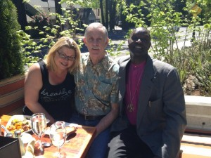 Vicky & John Trabosh with Bishop Nathan