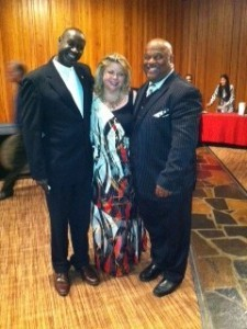 Itafari Foundation event June 1, 2012 with Victoria, Bishop Nathan Gasatura and Tracy Stone
